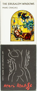 Books:Art & Architecture, William S. Liberman, text. Matisse. 50 Years of His Graphic Art. [and:] Marc Chagall. The Jerusalem Windows... (Total: 2 Items)