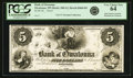 Obsoletes By State:Minnesota, Owatonna, MN - Bank of Owatonna $5 18__ MN-100 G2, Hewitt B460-D5.Proof. PCGS Very Choice New 64.. ...