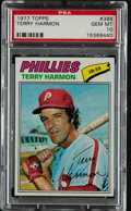 Baseball Cards:Singles (1970-Now), 1977 Topps Terry Harmon #388 PSA Gem Mint 10 - Pop Four. ...