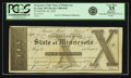 Obsoletes By State:Minnesota, St. Paul, MN - Treasurer of the State of Minnesota $10 Feb. 20,1858 Hewitt C400-D10. PCGS Very Fine 35 Apparent.. ...