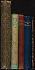 Books:Literature Pre-1900, [Alfred Lord Tennyson]. Group of Five Books about Alfred Tennyson.[Various places: various publishers, 1881-1914]. ... (Total: 5Items)