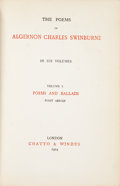 Books:Literature Pre-1900, Algernon Charles Swinburne. The Poems of Algernon CharlesSwinburne in Six Volumes. London: Chatto & Windus, 190...(Total: 6 Items)