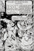 Original Comic Art:Covers, Mike DeCarlo Tales of Suspense #74 Captain America CoverRecreation Original Art (2012)....