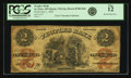 Obsoletes By State:Minnesota, St. Peter, MN - Peoples Bank $2 June 1, 1859 MN-170 G4a, HewittB780-D2b. PCGS Fine 12.. ...