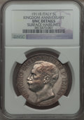 Italy, Italy: Vittorio Emanuele III 5 Lire 1911-R UNC Details (SurfaceHairlines) NGC,...
