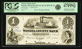 Obsoletes By State:Minnesota, Winona, MN - Winona County Bank $1 Nov. 1, 1858 MN-205 G2a, HewittB940-D1-2b. Proof. PCGS Superb Gem New 67 PPQ.. ...