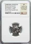 Ancients:Greek, Ancients: CAMPANIA. Neapolis. Ca. 320-275 BC. AR stater or nomos(7.46 gm)....