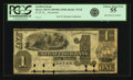 Obsoletes By State:New Hampshire, Dover, NH - Strafford Bank (2nd) $1 18__ NH-75 G8. Remainder. PCGS Choice About New 55.. ...