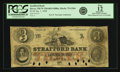 Obsoletes By State:New Hampshire, Dover, NH - Strafford Bank (2nd) $3 Jan. 1, 1858 NH-75 G36b SENC. PCGS Fine 12 Apparent.. ...