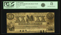 Obsoletes By State:New Hampshire, Dover, NH - Strafford Bank (2nd) $20 Jan. 4, 1847 NH-75 G68. PCGS Fine 12.. ...