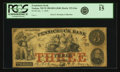 Obsoletes By State:New Hampshire, Nashua, NH - Pennichuck Bank $3 Jan. 1, 1856 NH- 215 G6a. PCGS Fine 15.. ...