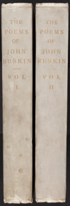 Books:Literature Pre-1900, [John Ruskin]. W.G. Collingwood. The Poems of John Ruskin.... (Total: 2 Items)