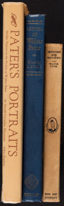 Books:Biography & Memoir, [Walter Pater]. Three Titles on the Work of Walter Pater... (Total: 3 Items)