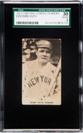 Baseball Cards:Singles (Pre-1930), 1921 E253 Oxford Confectionery Babe Ruth SGC 30 Good 2....