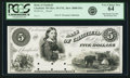 Obsoletes By State:Minnesota, Chatfield, MN - Bank of Chatfield $5 18__ MN-20 UNL, HewittB080-D5a. Proof. PCGS Very Choice New 64.. ...