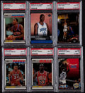 Basketball Cards:Lots, 1986-2005 Basketball Stars and HoFers PSA Graded Group (36)....
