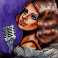 Fine Art - Painting, American:Other , Aubree-Anna, Singer Songwriter. Gatsby. Acrylic on Canvas.16 x 16 inches (40.6 x 40.6 cm). ...