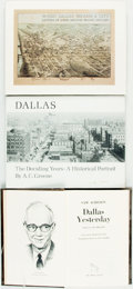 Books:Americana & American History, [Dallas]. Group of Three First Editions. Various publishers,1973-1982. Titles include: A. C. Greene. Dallas: The De...(Total: 3 Items)
