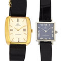 Timepieces:Wristwatch, Two Lady's Elbel Wristwatch One is 18k Gold Runners. ... (Total: 2Items)