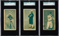 Baseball Cards:Lots, 1911 D310 Pacific Coast Biscuit Co. SGC Graded Type Set (3). ...
