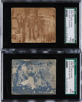 """Baseball Cards:Lots, C. 1927 R94 Movie Stars & Scenes """"Babe Comes Home"""" SGC Pair (2)- Both With Babe Ruth! ..."""