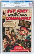 Silver Age (1956-1969):War, Sgt. Fury and His Howling Commandos #1 (Marvel, 1963) CGC FN/VF 7.0 Off-white to white pages....