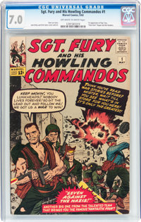 Sgt. Fury and His Howling Commandos #1 (Marvel, 1963) CGC FN/VF 7.0 Off-white to white pages