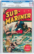Golden Age (1938-1955):Superhero, Sub-Mariner Comics #22 (Timely, 1947) CGC VF 8.0 Off-white pages....