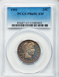Proof Barber Quarters, 1901 25C PR65 Cameo PCGS....