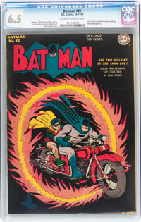Batman #25 (DC, 1944) CGC FN+ 6.5 Off-white to white pages
