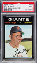 Baseball Cards:Singles (1970-Now), 1971 Topps Willie Mays #600 PSA Mint 9 - None Higher....