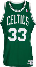 Basketball Collectibles:Uniforms, 1987-88 Larry Bird Game Worn Boston Celtics Jersey, MEARS A10. ...