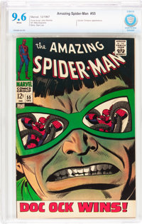 The Amazing Spider-Man #55 (Marvel, 1967) CBCS NM+ 9.6 White pages