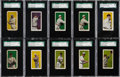Baseball Cards:Sets, 1911 E94 George Close and Co. Candy Complete Overprint Set (10)....