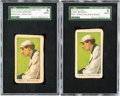 Baseball Cards:Lots, 1911-16 T216 Peoples - Kotton Tobacco Chief Bender, White Cap-Baltimore Fed & Blank Back SGC Pair (2). ...