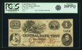 Obsoletes By State:New York, Troy, NY - Central Bank of Troy $1 May 1, 1853 NY-2685 G2a SENC. PCGS Very Fine 20PPQ.. ...