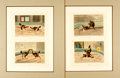 Books:Prints & Leaves, [Sporting Prints]. Henry Thomas Alken, English artist (1785-1851).Pair of Engraved Prints with Hand-Coloring Depicting Cockfi...