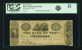 Obsoletes By State:New York, Troy, NY - Bank of Troy $5 Dec. 3, 1852 NY-2730 G160a SENC. PCGS Fine 15.. ...