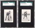 Hockey Cards:Lots, 1929 Rogers Peet Hockey Players SGC Graded Pair (2). ...