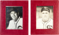 Baseball Cards:Singles (1930-1939), High Grade 1938 Sawyer Biscuit Dizzy Dean & Porkchops Whitehead Team Type Pair (2) Plus Letter & Mailing Envelope. ...