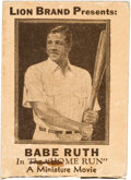 Baseball Collectibles:Others, 1930's Lion Brand Shirts Babe Ruth Flip Book. ...