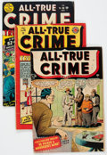 Golden Age (1938-1955):Crime, All-True Crime Cases Group of 5 (Atlas, 1948-52) Condition: Average VG+.... (Total: 5 Comic Books)