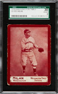 Baseball Cards:Singles (Pre-1930), Extremely Rare 1910 Washington Times Clyde Milan SGC 30 Good 2 -The Only Recorded Example! ...