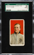 Baseball Cards:Singles (Pre-1930), 1910 T213-1 Coupon Type 1 Ty Cobb SGC 30 Good 2. ...