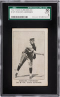 Baseball Cards:Singles (Pre-1930), 1920 D327 Holsum Bread Rogers Hornsby SGC 50 VG/EX 4 - HighestGraded of Only Two SGC Examples! ...