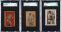 Baseball Cards:Lots, 1911 E-Unc Baseball Bats Candy SGC Graded Type Trio (3) - With FullBorders. ...