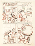 "Original Comic Art:Miscellaneous, Isadore ""Izzy"" Klein Little Audrey Comic Strip ArtworkOriginal Art (c. 1950)...."