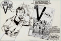 Original Comic Art:Illustrations, Murphy Anderson - DC Comics House Ad for V