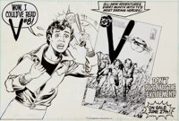 Murphy Anderson - DC Comics House Ad for V #8 Illustration Original Art (DC, 1985)