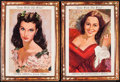 "Movie Posters:Academy Award Winners, Gone with the Wind (MGM, R-1968). Promotional Lobby Portrait Set of4 (16.75"" X 23""). Academy Award Winners.. ... (Total: 4 Items)"